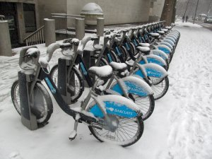 ...and finally, not far from The London Eye, a row of 'Boris Bikes', doing even less business...
