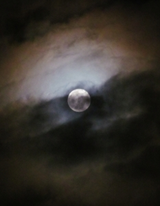 Moon among clouds...
