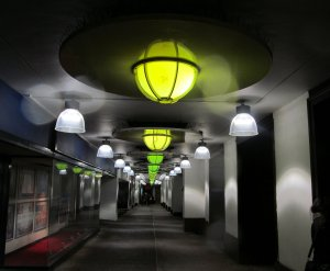 A lighted passage, running south off of Shaftesbury Avenue, near Piccadilly Circus...