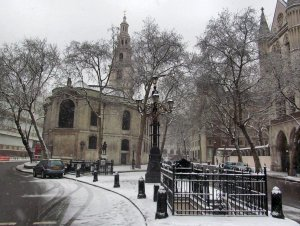 At the western end of Fleet Street, stands a rather splendid church called St. Clement Danes
