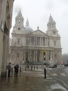 St. Paul's Cathedral, as seen from the top of Ludgate Hill...