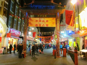 Gerrard Street, getting ready for The Year of the Snake next weekend...