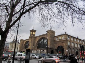 King's Cross mainline station, from the southern side of the Euston Road. It's rather deceptive this photo, as King's Cross has undergone substantial development in recent years, and there's been a large expansion of the station behind the Euston Road.