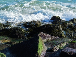 Rocks and waves...
