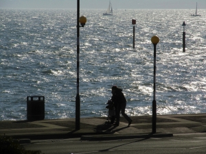 Strolling along the seafront...