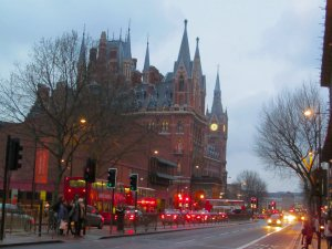 St. Pancras Station, as seen from the west...