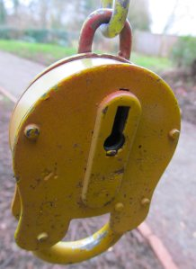 A yellow lock...