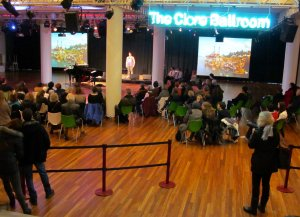 The Clore Ballroom, Royal Festival Hall, on the South Bank, early Saturday evening...
