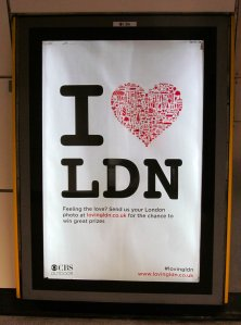 Back at London Bridge now, and here's a poster on the Tube station platform :)...