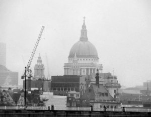 St. Paul's Cathedral, as zoomed in from Hungerford Bridge