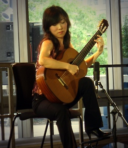 The Chinese classical guitarist Yang Xue Fei...