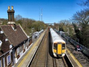 Cuxton railway station, Kent...