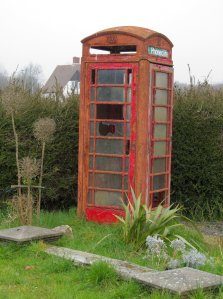 A derelict red telephone box, Titchfield, Hampshire...