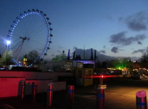 An evening skyline on the South Bank...