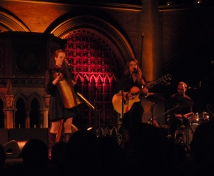 Hattie and Charlie Webb at the Union Chapel, November 2011