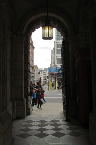 An archway leading on to Piccadilly...