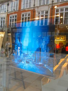 Carre d'Artistes shop window, New Bond Street