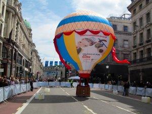 A static hot air balloon...