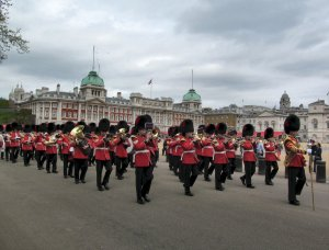 Marching soldiers at Horse Guards Parade...