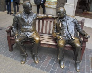 Bench, great for tourist photos...Churchill and FDR maybe?