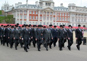 Followed by old soldiers in bowler hats...and respect to them all...