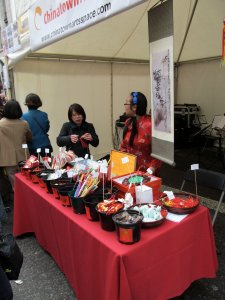 The Chinatown Art Space stall...