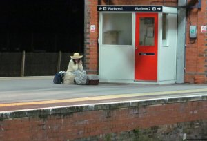 """I'm sitting in the railway station, Got a ticket for my destination…""... at Fareham station around 9.15 pm on Tuesday"
