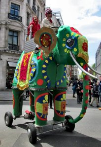 A mechanical Indian elephant...
