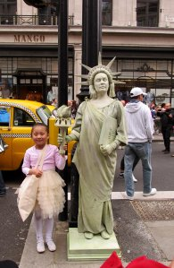 A living Statue of Liberty...