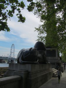 Sphinx, and a distant London Eye...