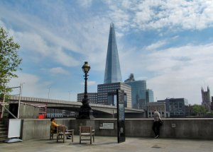 Oystergate Walk, with London Bridge and The Shard beyond