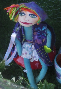 Rag doll in a shop window, Albert Road, Southsea