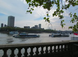 View across the river to the South Bank