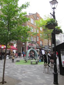 St. Christopher's Place, Marylebone, just north of Oxford Street...