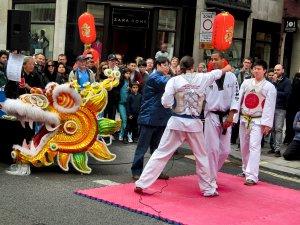 A demonstration of Taekwondo...