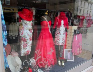 Some classy window-dressing in Tiffanys, West Street, Fareham