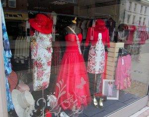 Some classy window-dressing in Tiffanys, West Street, Fareham