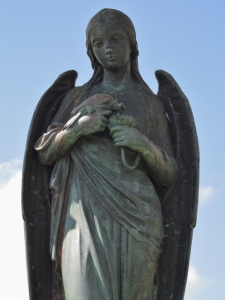 Angel statue, Canoe Lake