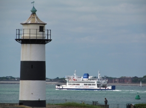 The Lighthouse and an Isle of Wight ferry