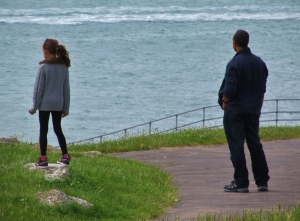Sea watching, Southsea seafront