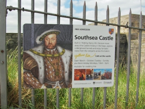 Southsea Castle, built in 1544 by Henry VIII
