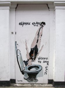 An alternative view of the London Olympics, in Park Street, Southwark ;)...