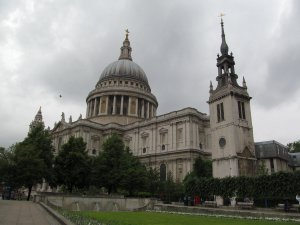 St Paul's Cathedral, from St Paul's Churchyard