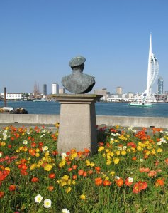 In gardens by Gosport waterfront...