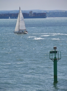 Beyond Clarence Pier, from the seafront heading to Portsmouth