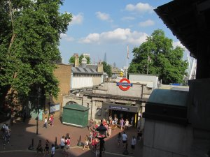 Embankment Tube Station, at the southern end of Villiers Street...