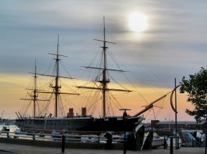 HMS Warrior, early evening, 15th July, 2013