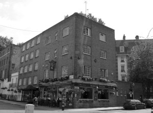 'Mabel's Tavern' a Shepherd Neame (a Kentish Brewer) pub on the corner of Mabledon Place and Flaxman Terrace...