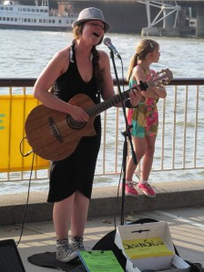 Susana Silva, a Portuguese singer, and South Bank busker...