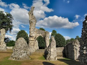 Thetford Priory, a ruin, albeit a rather beautiful one...